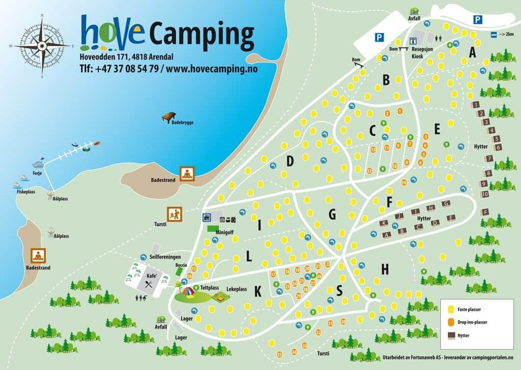 kart over tromøya Hove camping kart   Hove leirssenter og camping kart over tromøya