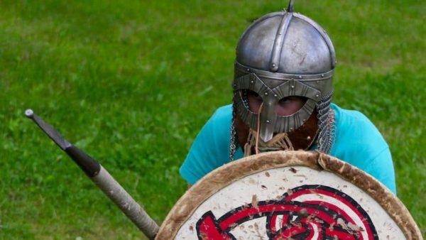 Hove leirskole, vikingleker. Tromøy, Arendal, Sørlandet